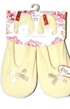 Welurowe kapcie-baletki damskie Risocks - 8910