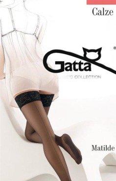 Pończochy samonośne Gatta Matilde ze szwem z tyłu