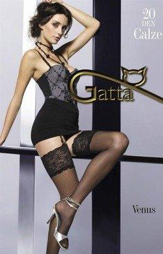 Czarne pończochy do paska Gatta Venus