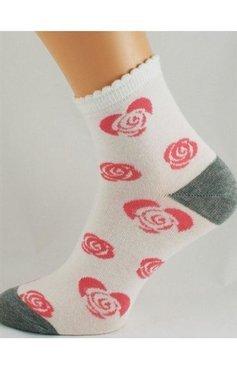 Skarpetki damskie Bratex - 136 (róże)