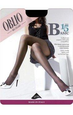 Rajstopy Oblio Basic 15 den - opak 6 sztuk  - HIT NA RYNKU  Ekskluzywne włoskie rajstopy mocca || brązowy