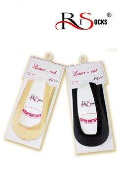 Stopki damskie Risocks 2204 - balerinki komfortowe laserowo cięte
