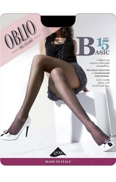 Rajstopy Oblio Basic 15 den - opak 6 sztuk  - HIT NA RYNKU  Ekskluzywne włoskie rajstopy antracite || szary