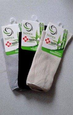 Skarpetki bezuciskowe Sotex  Bambus Medical / 96205 z włokna bambusowego
