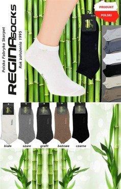 Uniwersalne, przewiewne stopki Regina Bambus / białe