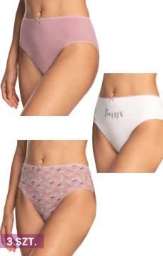 Figi damskie Lama 3-pak Bikini - jasne