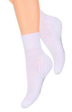 Białe skarpetki sportowe Steven 040 z frotte w stopie